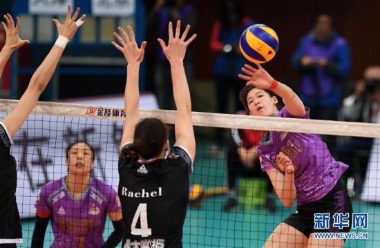 (体育)(10)排球——女排超级联赛:北京汽车夺冠