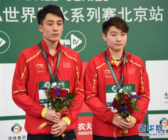(体育)(6)跳水——国际泳联系列赛:练俊杰/司雅杰获男女混合双人10米跳台冠军