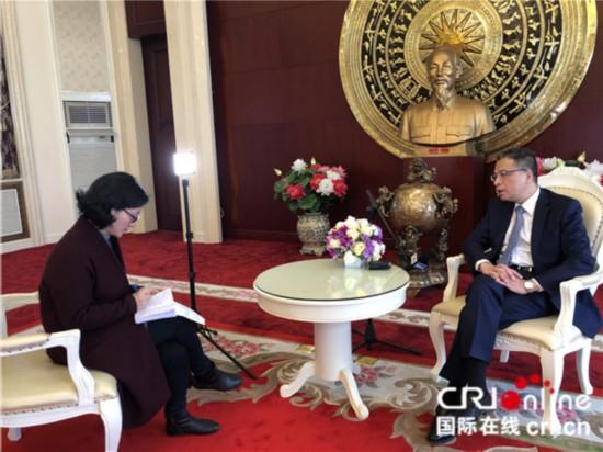 图片默认标题_fororder_越南驻华大使接受中国国际广播电台记者专访 摄影:李峰.