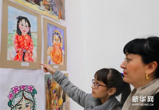 (国际)(2)上海合作组织成员国儿童绘画展亮相塔什干