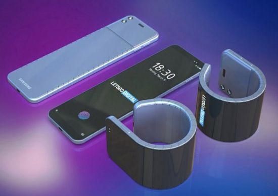 三星手机变身智能腕表:又一外翻柔性屏专利曝光