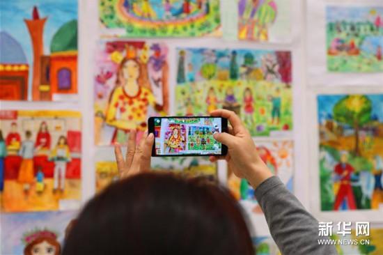 上海合作组织成员国儿童绘画展亮相塔什干