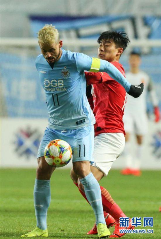 (体育)(3)足球――亚冠:广州恒大淘宝不敌大邱