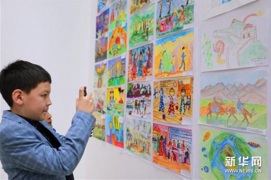 (国际)(3)上海合作组织成员国儿童绘画展亮相塔什干