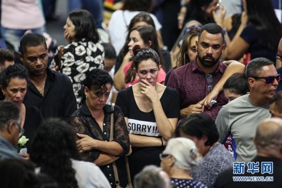 (国际)(3)巴西圣保罗州:悼念校园枪击案遇难者