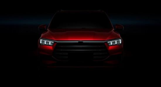 比亚迪全新SUV车型SA2预告图曝光