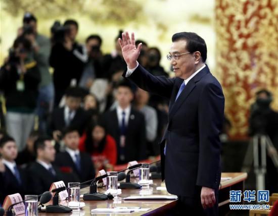 (两会・XHDW)(5)李克强总理会见中外记者
