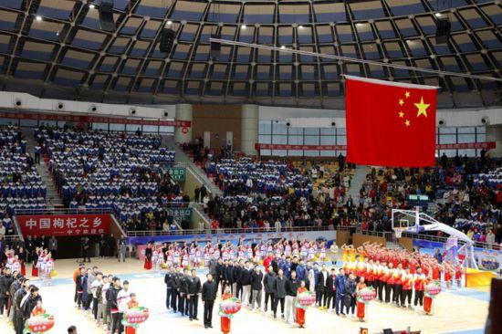 第二届全国青运会男篮预赛在中宁开赛