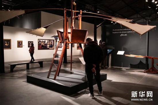 (新华视界)(4)希腊雅典举办达芬奇主题沉浸式展览