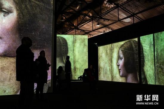 (新华视界)(6)希腊雅典举办达芬奇主题沉浸式展览