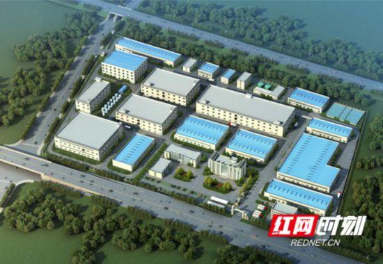 位于宁乡经开区的湖南金源新材料股份有限公司10万吨废旧锂离子动力电池拆解综合回收项目效果图。.marked.png