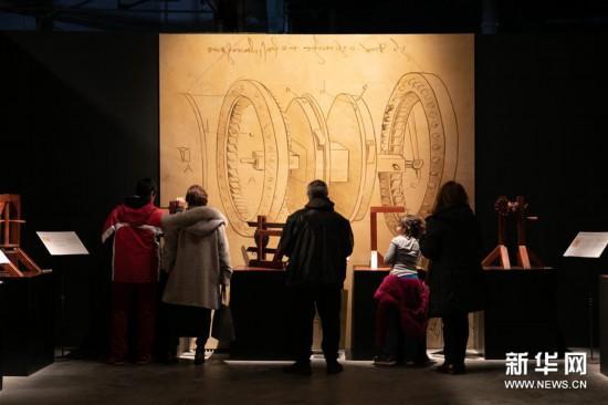 (新华视界)(5)希腊雅典举办达芬奇主题沉浸式展览