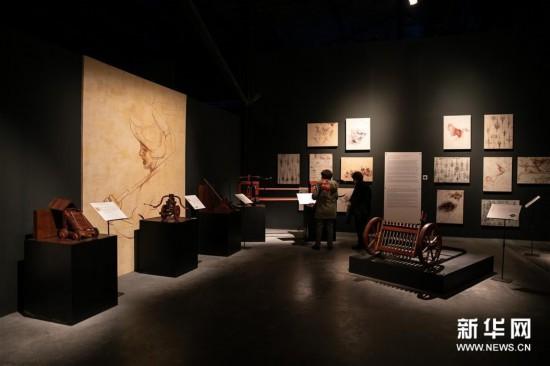 (新华视界)(3)希腊雅典举办达芬奇主题沉浸式展览