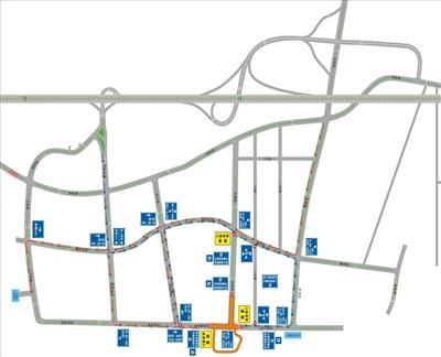3月22日―23日海棠区部分道路实行交通管制