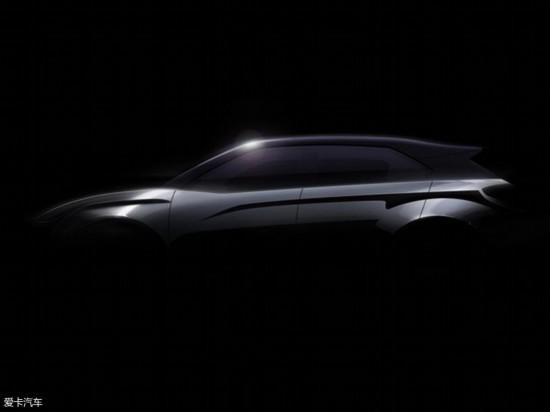 合众旗下哪吒新款量产车预告图 纯电跨界SUV