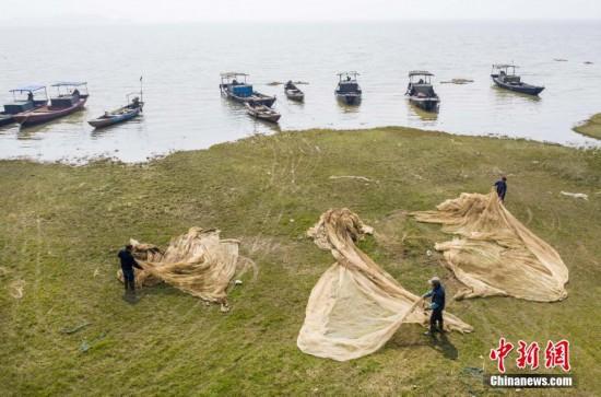 中国最大淡水湖鄱阳湖正式进入禁渔期