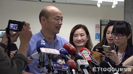 """高雄市长韩国瑜:认同""""九二共识""""支持两岸经贸"""