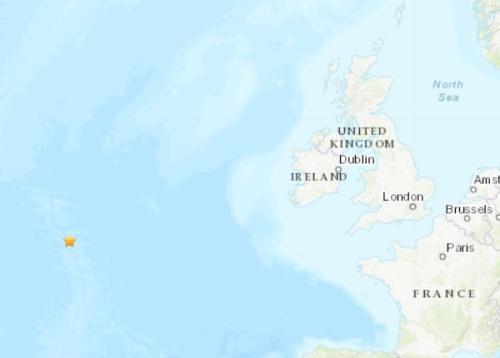北大西洋中脊发生5.2级地震 震源深度10千米