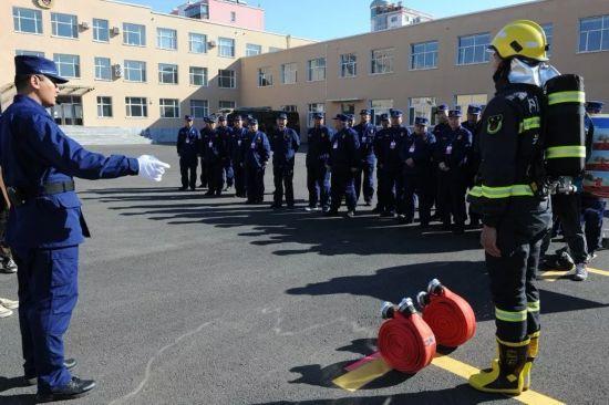 经验交流会|兴安盟消防支队召开全盟消防救援队伍冬季训练工作阶段性总结大会