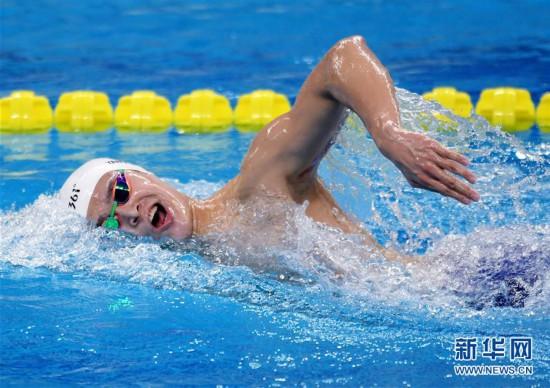 (体育)(2)游泳――全国冠军赛:孙杨获男子1500米自由泳冠军