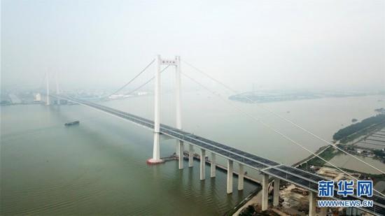(经济)(1)一桥飞架珠江口 南沙大桥通车