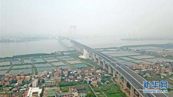 (经济)(3)一桥飞架珠江口 南沙大桥通车