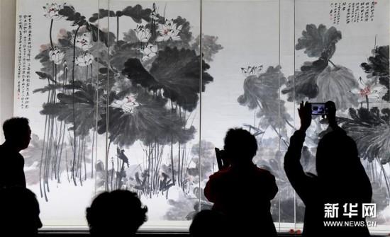 (文化)(2)张大千120岁纪念大展在台北举办