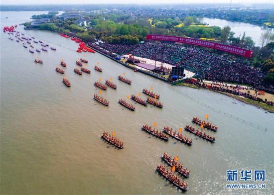 泰州姜堰溱潼会船节开幕 数百船只云集溱湖