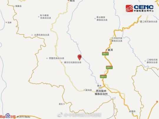 云南澜沧县发生3.1级地震 暂无人员伤亡报告