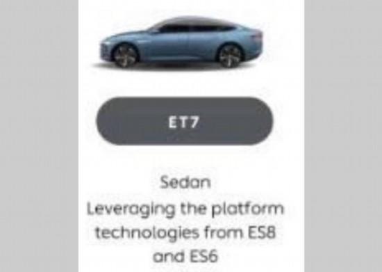 或为全新ET系列 蔚来新车型预告图发布