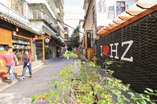 經過改造的下角祝屋巷集旅游、休閑於一體,內設小吃店、酒吧、民宿等配套設施。