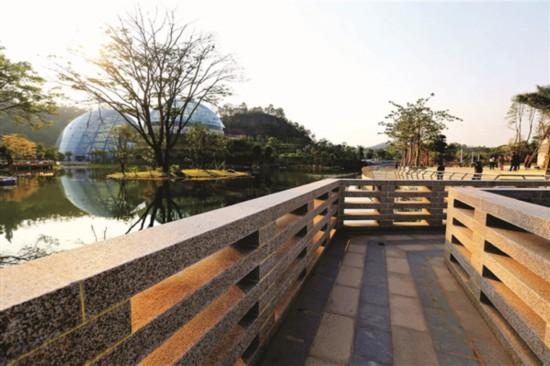 惠州植物園一期於今年1月30日全面開放,成為市民游玩的好去處。