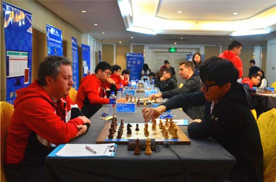 中国国际象棋甲级联赛重庆体彩队两连胜