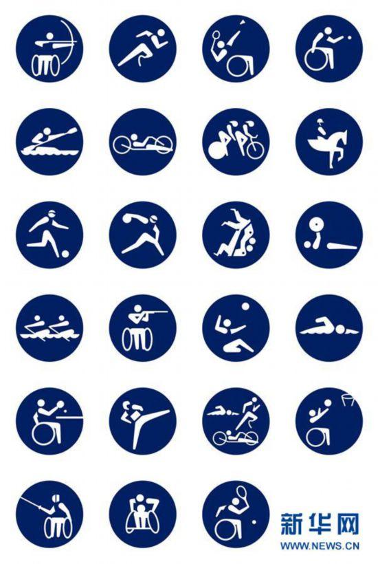 (体育)(6)奥运会——东京残奥会体育图标揭晓