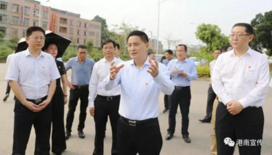李新元到港南区调研指导水环境综合整治工作