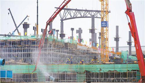 徐州高铁东广场客运枢纽工程有序推进 总面积3万�O