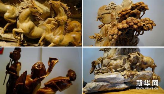 """(经济)(3)江西上饶:""""精雕细琢""""助推木雕产业蓬勃发展"""