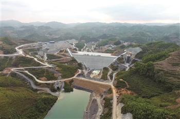 黄家湾水利枢纽提前实现度汛节点工期目标