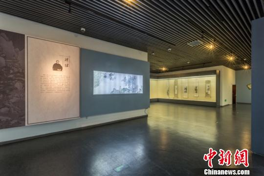张大千和溥心��书画作品在安徽博物院展出