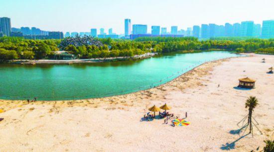 合肥塘西河公园 再现热带风情