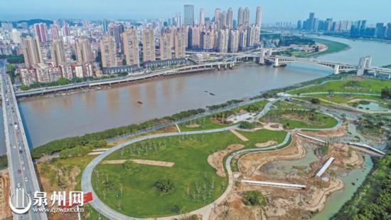 晋江南岸建造生态公园