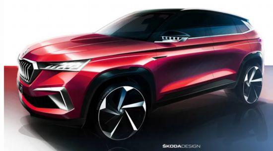斯柯达公布VisionGT概念车设计图2019深圳车展首秀