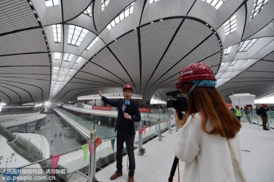 中外记者走进北京大兴国际机场【3】