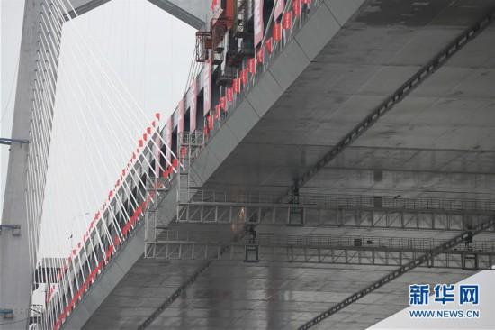 (经济)(5)商合杭铁路芜湖长江公铁大桥钢梁成功合龙