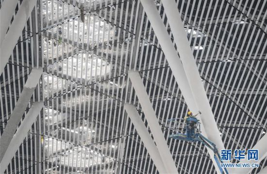 (經濟)(3)深圳國際會展中心建設進入沖刺階段