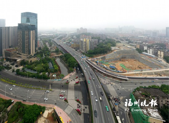 福州岳峰高架桥将再增一条匝道 计划5月1日通车