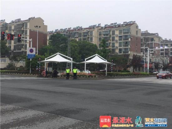 南京溧水区首批城市道路遮阳棚亮相街头