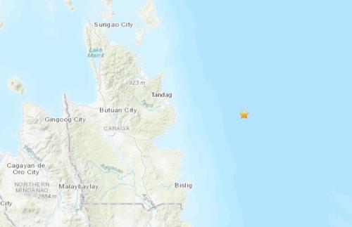 菲律宾东部海域发生5.0级地震震源深度35公里