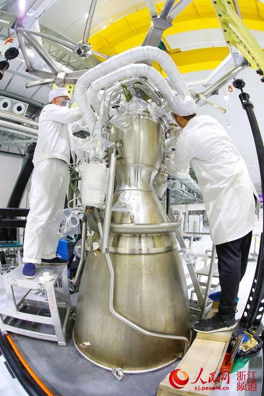 民营运载火箭发动机 天鹊 在湖州完成装配