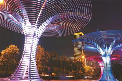 南通海安实施亮化工程 城市面貌日新月异